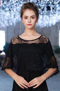 Diamond Black Autumn Thin Gauze Cloak Lace Shawl