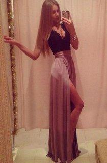 Elegant V-neck Lace A-line 2016 Prom Dress Front Split Sleeveless