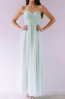 Sweetheart Ankle-Length Criss Cross Chiffon Dress
