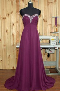 Empire Maxi Sweetheart Chiffon Dress With Beading