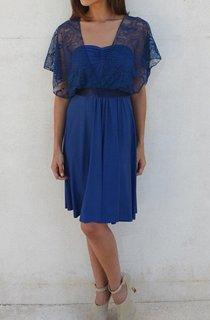 Knee-length Chiffon&Lace Dress