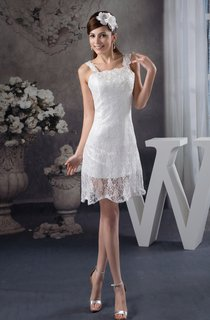 Strapped Lace Midi Dress with Zipper Back