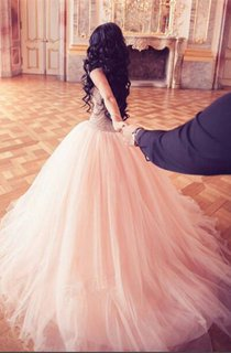 Stunning Crystal Princess Tulle Evening Dresses 2016 Floor Length Sweet 16 Quinceanera Dress
