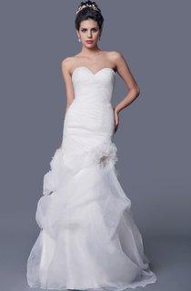 Amazing A-line Organza Wedding Dress With Beaded Jacket