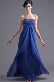 chiffon floor-length sweetheart dress with central ruching