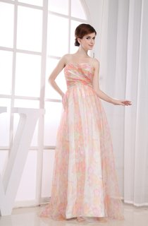 Strapless Mute-Color Long Dress With Criss-Cross Ruching