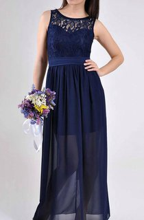Floor-length Chiffon&Lace Dress