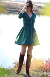 Country Short V-Neck Long Sleeve Dress