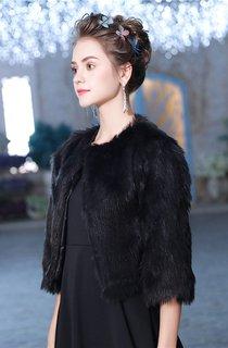 Winter Dress Coat New Black Long-sleeved Thermal Wool Shawl