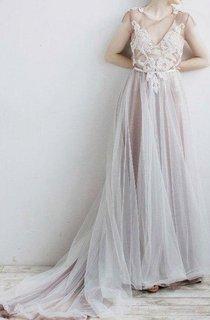 Wedding Odri Boho Wedding Beach Wedding Bohemian Wedding Wedding Purple With Milk Grey Ivory Powder Dress