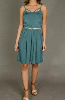 Short Strapped Sleeveless Sleeve Dress