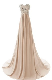Sweetheart Sweep Train Dress With Sequined Bodice