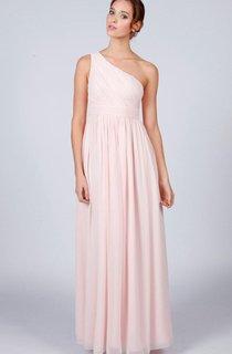 One-shoulder Floor-length Bridesmaid Dress