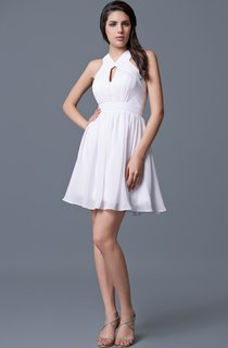 Sleeveless Ruched Short Chiffon Dress