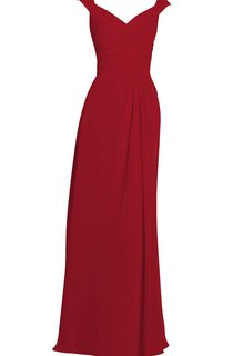 V-neckline Ruching Dress With Detachable Sleeve
