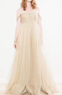 Shimmering Gold Tulle Wedding Nadia Dress