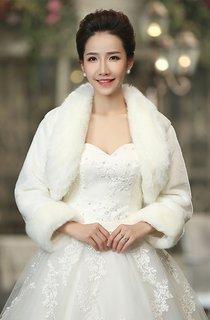 New Warm White Long-sleeved Shawl