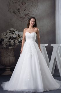 Sweetheart A-Line Ball Gown with Tulle and Appliques