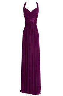 Sleeveless Empire Long Chiffon Crisscross Dress