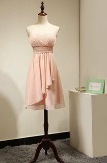 Sweetheart Strapless Short Dress With Ruched Bodice