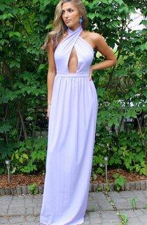 Floor-length Halter Backless Dress