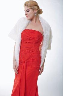 Elegant Ivory Faux Fur Bridal Shawl