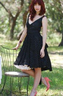 Backless Chiffon Dress With Ruffles