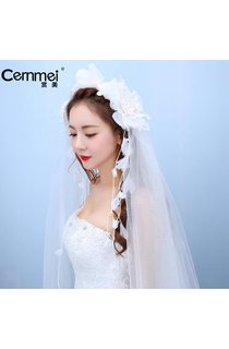 Bride Wedding Holiday Head Flower Flower Ring Yarn Accessories Wedding Photo Studio Photography Photo Hair Ornaments