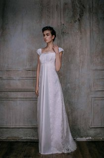 Elegant Gown Bohemian Silk Satin Gown Lace Gown Haute Couture Grecian Syle Dress