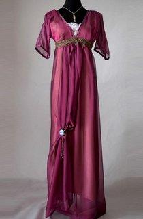 Edwardian Purple Evening Handmade In England Downton Abbey Inspired Titanic 1912 Styled Dress