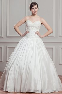 Sweetheart Pleated Ball Gown with Beading and Ruched Waist