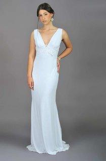 Floor-Length Chiffon Lace Wedding Dress