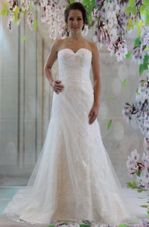 Charming Sweetheart Fit And Flare Lace Wedding White Bridalgown Dress
