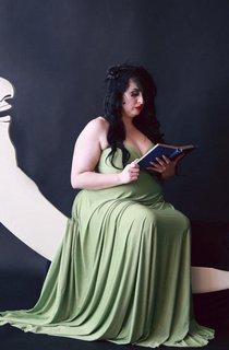 Fern Green Satin Jersey Octopus Convertible Infinity Wrap Long Maternity Plus Size 1920S Gatsby Flapper Style Dress