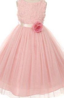 Sleeveless A-line Dress With Pleats and Flowers