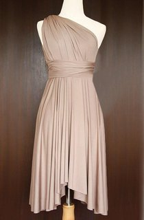 Light Taupe Convertible Wrap Dress