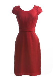 Modest Short Sleeve Round Neckline Mini Dress