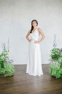 Lace Top Sleevless Winter Silk Waistb Dress