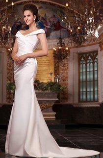 Delicate Satin Long Noble Sleeveless A-Line V-Neck Dress