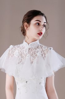 White Summer Cloak Lace Sunscreen Wedding Shawl Thin Section