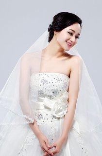 Noble 1.5-meter Wedding Veil With Floral Motif