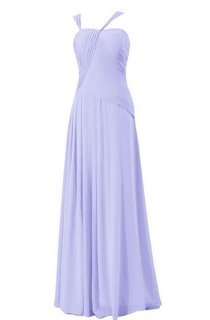 Stylish Ruched Chiffon A-line Gown With Lace-up Back