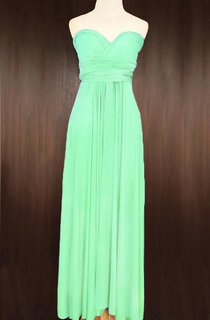 Apple Green Convertible Wrap Full Length Dress