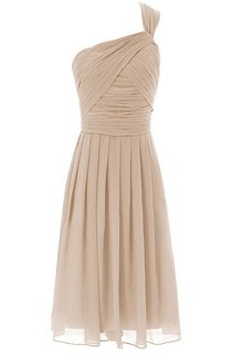 One-shoulder Short Dress With Crisscross Pleats