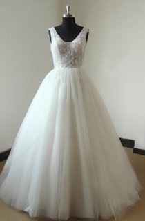 Ball Gown Tulle Lace Weddig Dress With Beading
