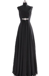V-neck Basque Waist Dress With Beading and Xipper Back