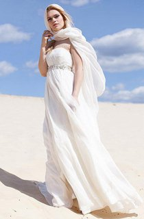 Boho Chiffon Spaghetti Floor-Length Dress With Waist Jewellery