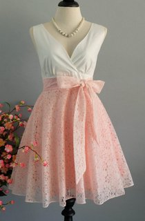 My Lady Ii Spring Summer Sun White Top Pink Lace Skirt Sweet Pink Lace Bridesmaid Pink Lace Party White Tea Xs Xl Dress