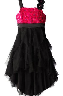 Sleeveless Sequined Dress With Sequins and Flowers