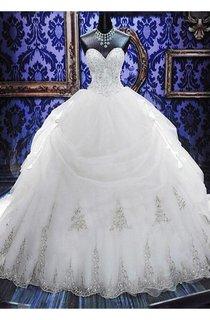 Gorgeous Ball Gown Beadings Wedding Dress 2016 Court Train Bowknot